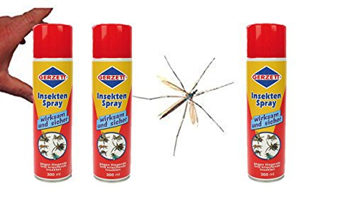 Centralin Gerzett Insekten Spray, (3 x 400ml Dose)