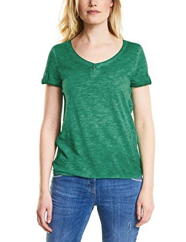 Clover Green T-shirt (Cecil Damen T-Shirt 311938 Janna, Clover Green, X-Large)