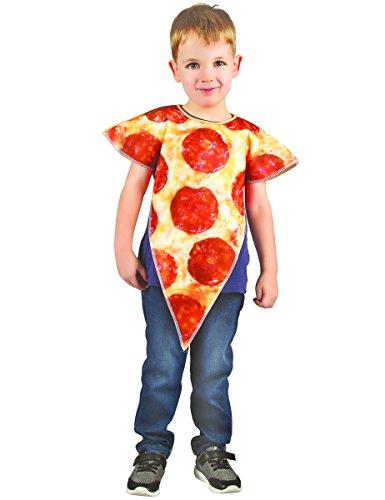 Generique Pizza-Kostüm für Kinder Beige-Rot 98/104 (3-4 ()