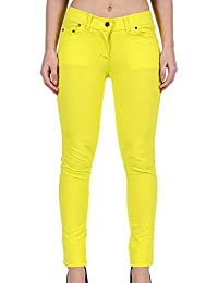 4a4952fc12015 MALAIKA ® Ladies Womens Skinny Fit Coloured Stretchable Zip Up Jeggings  Trouser Stretch Pants Denim Jeans