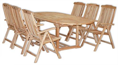 KMH®, Gartensitzgruppe für 6 Personen (Echt Teak) (#102080)