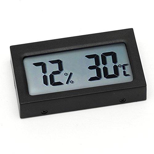 zrshygs Small Size Digital LCD Thermometer Hygrometer Humidity Temp Meter (Thermometer-timer Cooking Digitale)
