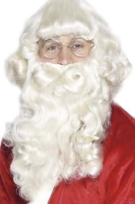 Smiffy's - Barba de Papá Noel de lujo para hombre