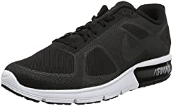 Nike Men Air Max Sequent Running Shoes Black/Wolf Grey/White/Metallic Hematite 8 D(M) US