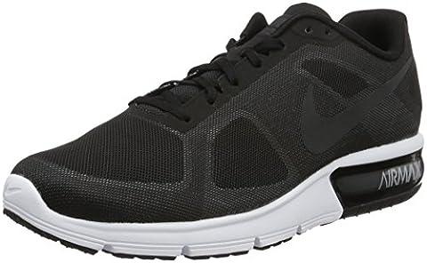 Nike Air Max Sequent, Chaussures de Running Entrainement Homme, Noir / Blanc (Noir / Hématite Métallique-Gris Loup-Blanc), 42 EU