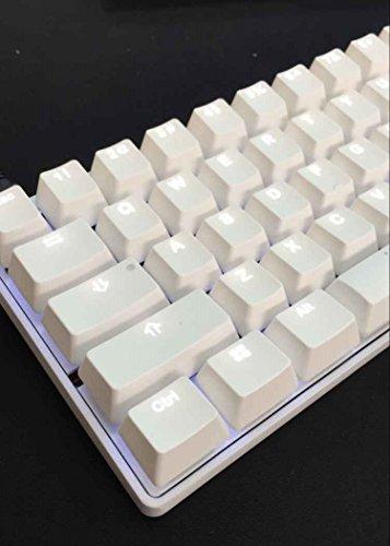 Vortex KBC poker 3 - Ultra-kompakte mechanische Tastatur - Cherry Mx-Green (ANSI US International) - weißer Hintergrundbeleuchtung - Metal Casing - weiß Gehäuse
