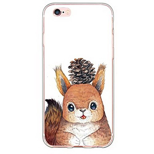 SecondDromi Süßes Eichhörnchen Muster Soft (TPU) hülle für iPhone 6S (4,7