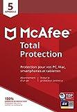 McAfee Total Protection 2020|5 Appareils | 1 An | PC/Mac/Android/Smartphones | Code d'activation - envoi par la poste