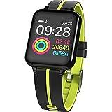 JTY Montre Connectée Smartwatch Tracker d'Activité IP67 Étanche Smartwatch Bracelet Bluetooth Podomètre avec Moniteur de Sommeil/Compteur de Calories pour Android iPhone,Green