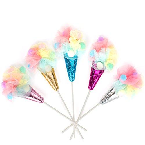 bestonzon 5x Candy Eis Kuchen Topper Cupcake Dekoration kleine Geschenke für Geburtstag Urlaub Celebration (Geburtstag-kuchen-eis)