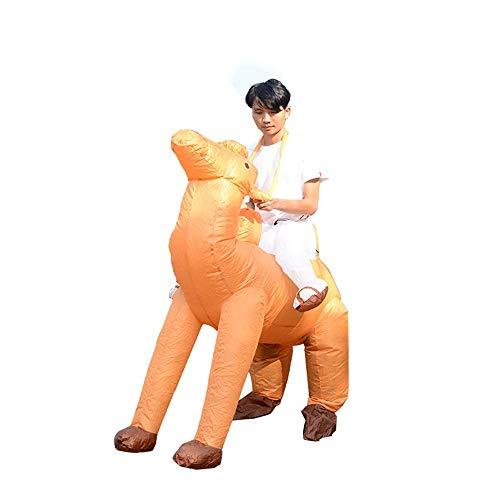 YyZCL Halloween Kleidung Aufblasbares Kostüm for Erwachsene Reiter Kamel Kostüm Anzug Lustige Halloween-Kostüme Für Halloween-Partys Rollenspiele (Farbe : Camel, Größe : - Kamel Für Erwachsene Kostüm