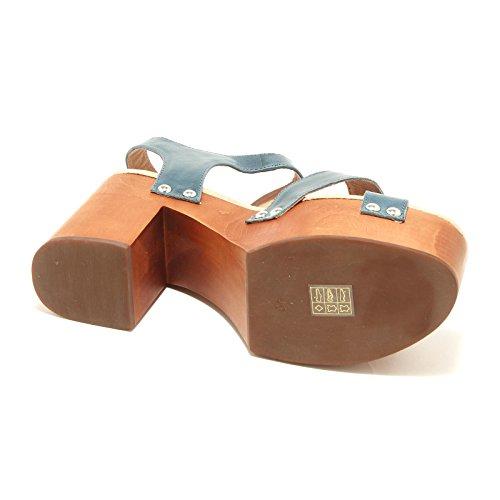 7126G zoccolo donna blu JEFFREY CAMPBELL peasy scarpa sandalo shoes women Blu