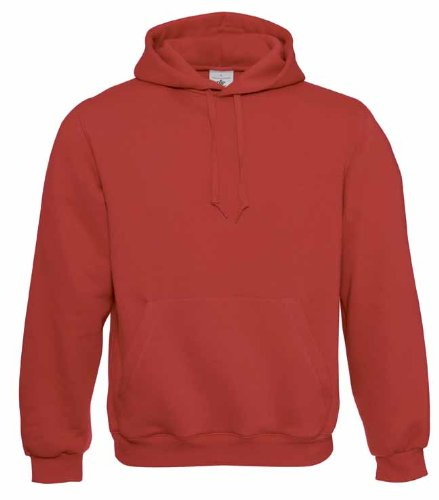 B&C - Sweatshirt à capuche - Femme Rouge - Rouge