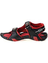 Paragon Stimulus Sports Sandals For Men (Black & Red)