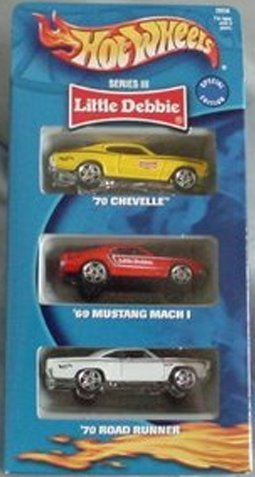 hot-wheels-little-debbie-series-iii-3-three-pack-chevelle-mustang-mach-i-road-road-runner-gift-set-b