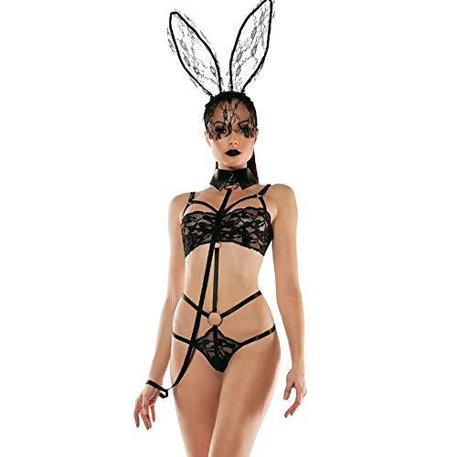 Weiße Playboy Bunny Kostüm - WWAVE Siamesische Bunny Kostüm Set Cosplay Lady Bunny Kostüm Dessous einheitliche Spiel