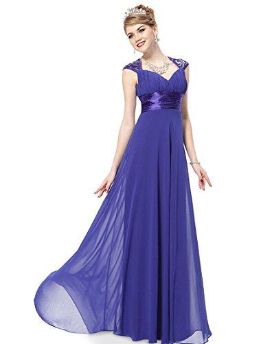 Ever Pretty V-Col Longue Robe de Soir¨¦e de style Empire 09672 Bleu saphire