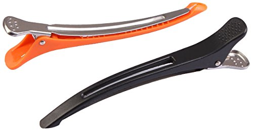 12 clips en silicone anti-glisse. Clips salon de coiffure. Avec une bande en silicone.