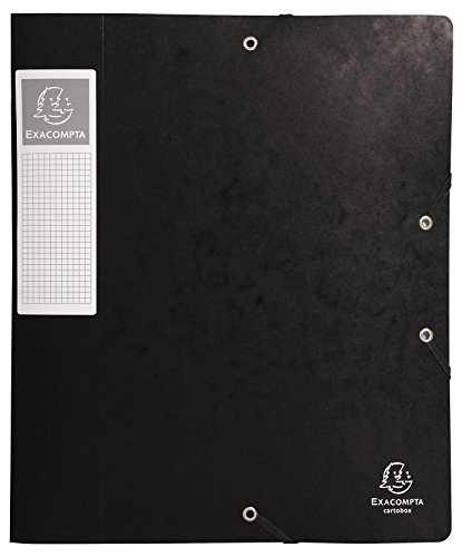 Preisvergleich Produktbild Exacompta 16016H Archivbox Cartobox Flach Geliefert rücken 60 mm, aus Manila Karton, Nature Future, Din A4, schwarz