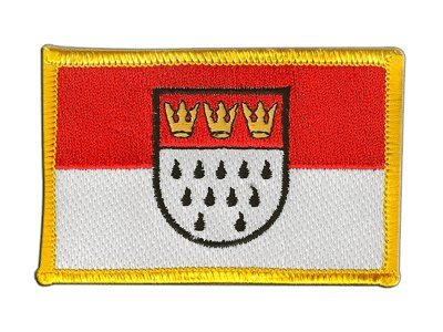 Aufnäher Patch Flagge Deutschland Stadt Köln - 8 x 6 cm