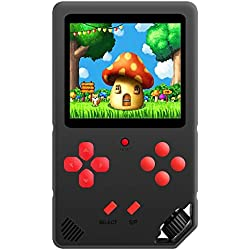 ZHISHAN Console de Jeux Portable pour Enfants Adultes Jeu Vidéo Rétro Classique 220 Intégré Rechargeable Écran de 3,0 Pouces Plug & Play et Consoles Système d'arcade (Noir)