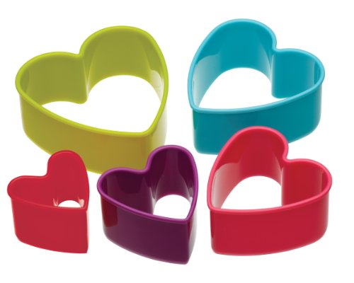 kitchen-craft-colourworks-plastic-heart-shaped-cookie-cutters-set-of-5