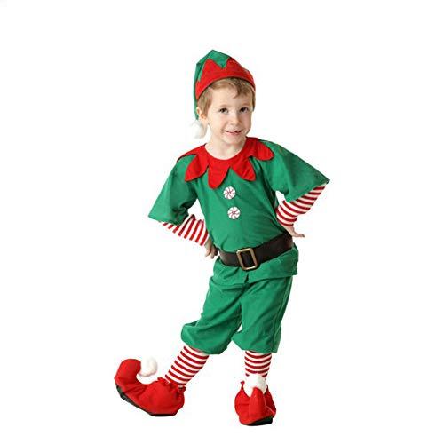 Shujin Elfen-Kostüm Weihnachtskostüm Xmas Elf Outfit Wichtel Weihnachtself Kostüm für Damen, Herren & Kinder - perfekt für Weihnachten, Karneval,Halloween Party& Cosplay (Elf Kostüm Für Herren)