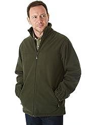 Sherwood Forest Tatton Fleece Jacket - Chaqueta de caza para hombre, color verde, talla 2XL