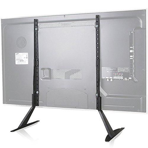 Universal-tisch-basen (Universal TV Ständer Tisch Fernseher Standfuß Fernsehtisch TV Halterung Höhenverstellbar Fernsehstand für LCD LED 22 - 65 Zoll VESA bis 800 x 400mm Schwarz (Suptek ML1760))