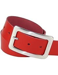 Ledergürtel in vielen Farben mit rechteckiger Schließe, 4cm Breite