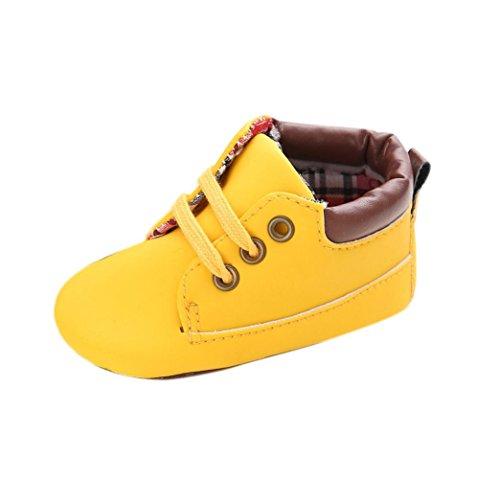 Clode® Chaussures bébé Infant Toddler Garçons Filles Semelles souples espadrille (12~18 Mois, Jaune) Jaune