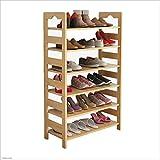 XRFHZT Multi-Layer Schuhregal Einfache Haushalt Massivholz Schuhablage Rack Staubdicht Lagerung Schuhe Regal