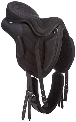 Cwell Equine synthetischen alle Zweck baumlosen Sattel schwarz Größen 40,6cm/41,9cm/43,2cm 44,5cm (44,5cm).