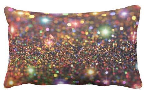 Federa per Il perfezionamento della casaPolvere Colorata glitterataFodera per Cuscino Divano e Auto 1 Confezione 19,68 x 25,6 Pollici / 50 cm x 65 cm