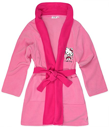 Hello Kitty - Robe de chambre - Manches Longues - Femme Rose - Rose bébé