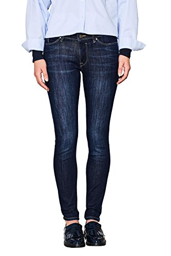 edc by ESPRIT Damen Skinny Jeans 997CC1B817, Blau (Blue Dark Wash 901), W30/L30 (Fit Slim Jean Denim Dark)