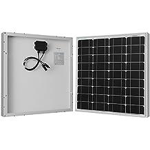 RENOGY - Panel solar monocristalino de 50W 12V, Panel solar fotovoltaico, Módulo PV para carga de batería de 12voltios en autocaravana, caravana, casa rodante, bote o yate