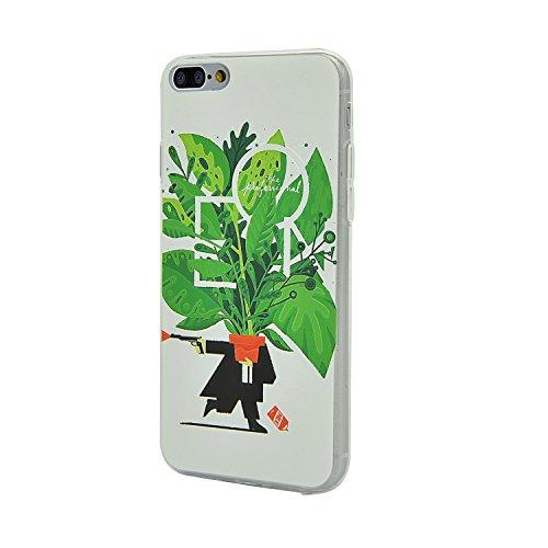 Coque iPhone 7 Plus, Coque de Protection iPhone 7 Plus Silicone TPU Gel Souple Relief Motif Etui Housse Sunroyal® Case Cover Ultra Mince Premium Confort Rigide Anti-choc Bumper - Cerf Relief-05