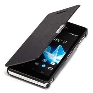 youcase - Sony Xperia V Lt25i Slim Flip Case Etui en cuir coque de protection Housse noir