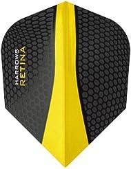 Darts Corner Harrows Retina Lot de 5 jeux de 15 ailettes de fléchettes ultra résistantes 100 microns Jaune