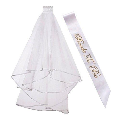 Generische Braut zu sein Flügel Deluxe Hochzeit Dusche für Hen Night Party Ladies heiraten Träume Fancy Dress Accessoires, Bridal Shower Hochzeit Dekorationen Party Versorgung Zubehör, weiß