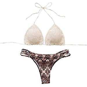 Costumi Donna, DoraMe Nappe Swimwear Bikini Set Patchwork da Bagno Due Pezzi 11 spesavip