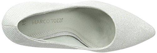Marco Tozzi 22405, Scarpe Col Tacco Donna Grigio (Lt.grey Metall 237)