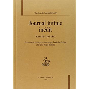 Journal intime inédit : Tome 3, 1834-1843