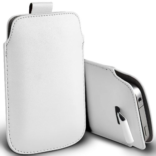 ( Baby Blue ) Apple iPhone 4 Protection simili cuir Pull Tab armoires Pochettes élégant Housse Etui En Fone-Case Blanc tirette