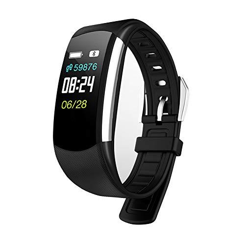 QL Bluetooth Fitness Tracker, Wasserdichte Smart Sportuhr Schrittzähler mit Schlaf- und Blutdrucküberwachung für iOS und Android Smartphone