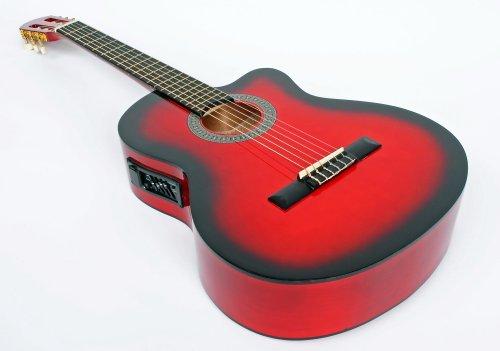 Cherrystone 4/4 Klassik Gitarre, Tonabnehmer und 4 Band EQ, redburst, 6 Strings