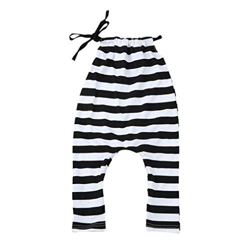 Hirolan Kleinkind Säugling Baby Kleider Gestreift Spielanzug Overall Spielanzug Sonnenuntergang (80cm, (Partei Sommer Kostüm Ideen)
