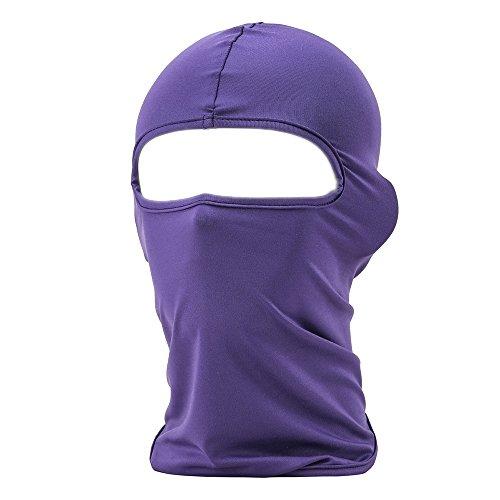 FENTI Multifunktionen Gesichtsmaske Sport Balaclava Maske Warm Fahrrad Ski Snowboard (Lila Masken)