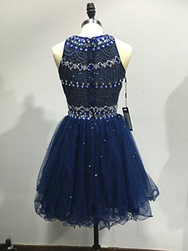 Bridal_Mall - Robe de mariage - Trapèze - Femme Bleu foncé